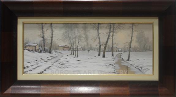 Badia Trias: Ermita con nieve
