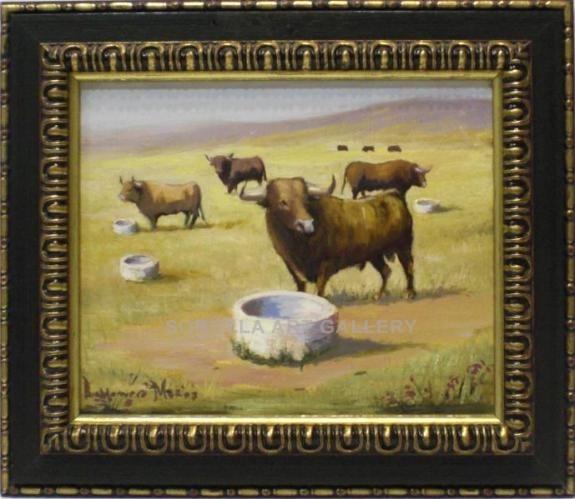 Baldomero Muñoz: Toros en el campo