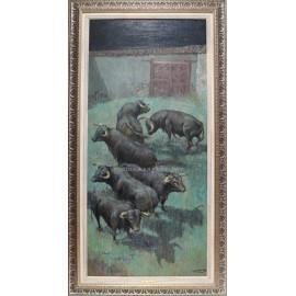 José Puente: Toros en el corral