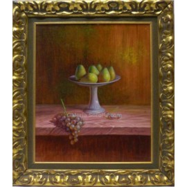 Angel Regaño: Pears and grapes