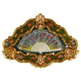 Florentine Spanish Fan Small - Green