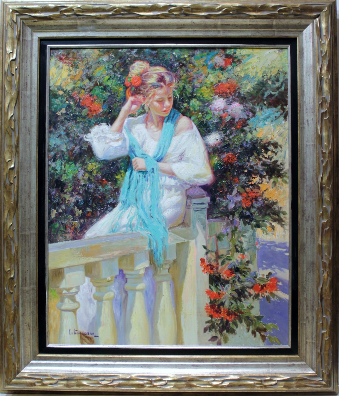Antonio navarro mujer en el jardin venta de cuadros en for Cuadros para el jardin