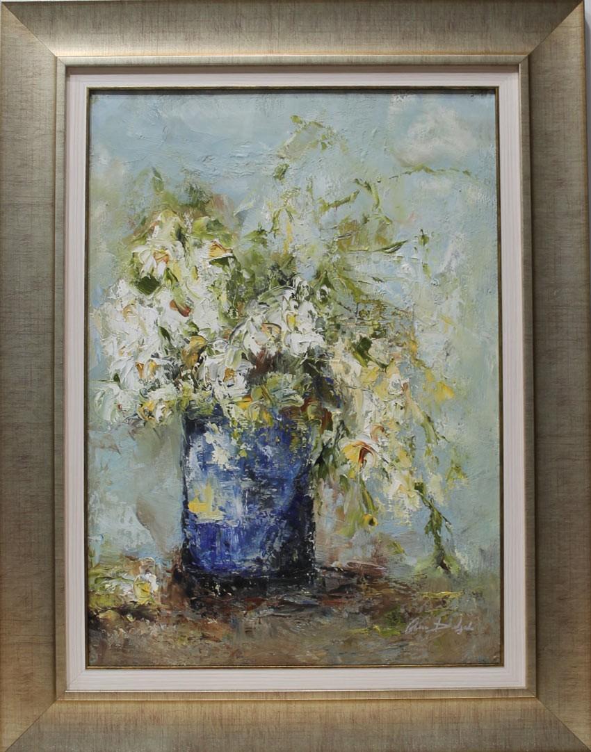 Ana Delgado: Jarrón con flores