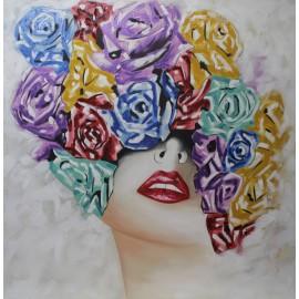 Mujer con rosas