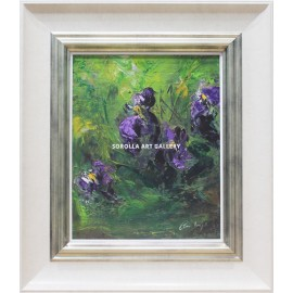 Flowers still life: Blue Lilies