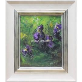 Bodegones de flores: Lirios Azules