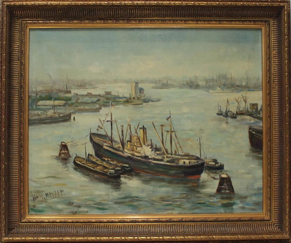Escuela Holandesa: Puerto de Rotterdam
