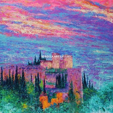 Andr s rueda cielo de la alhambra venta de cuadros en la for Galeria de arte sorolla