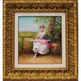 Mujer en el jardín