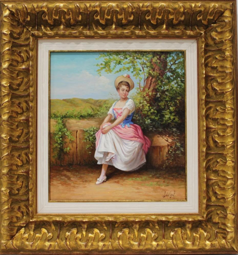 López Galindo: Mujer en el jardín