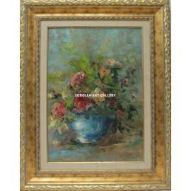 Ana Delgado: Jar with Flowers