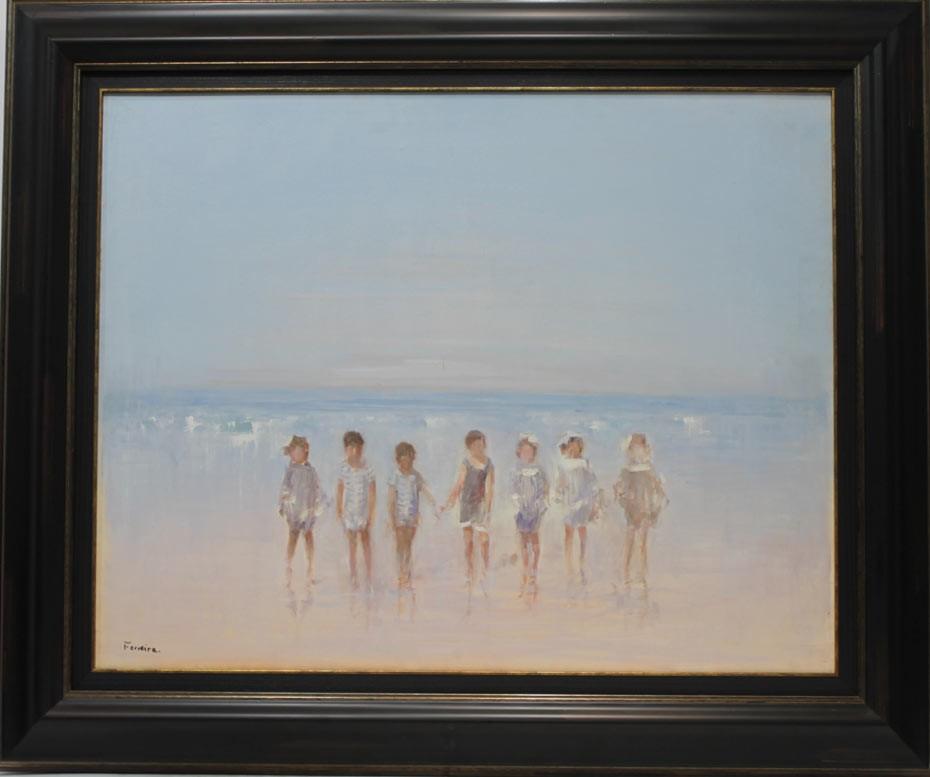 Ferreira: Niños en la playa