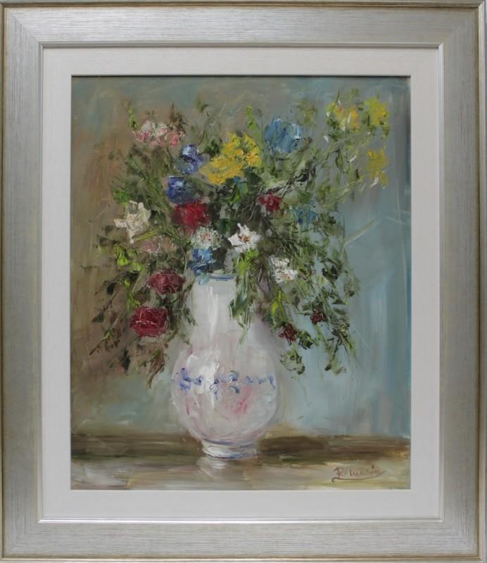 Rosa María: Jarrón con flores