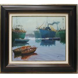 Escuela Holandesa: Barcas