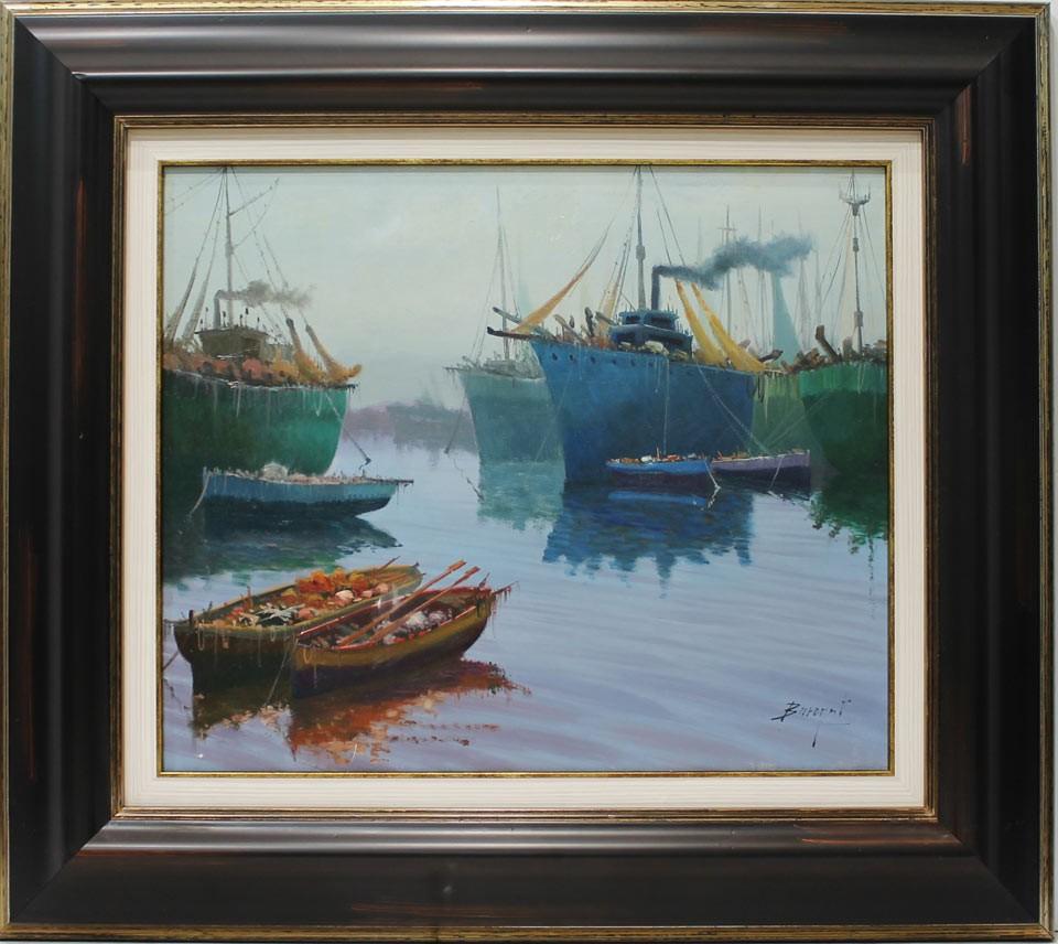 Escuela holandesa: Barcas. Venta de cuadros en la Galería de Arte ...
