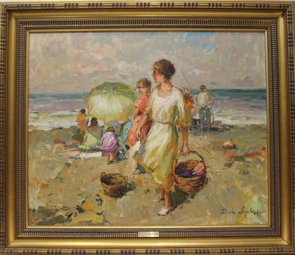 Ricardo Cejudo Nogales: Figuras en la playa