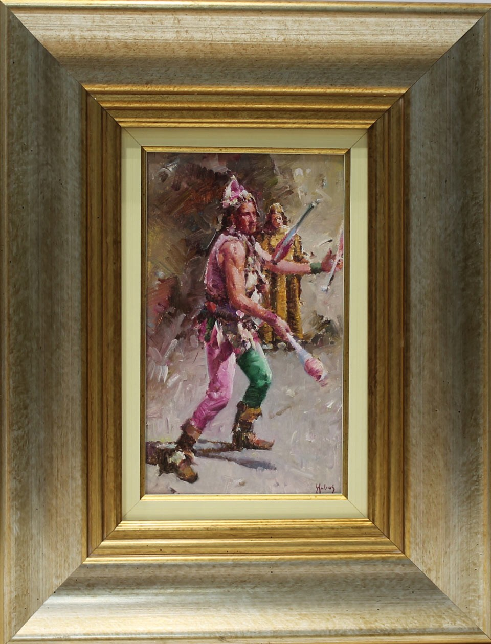 Helios Gisbert: Figura de arlequín