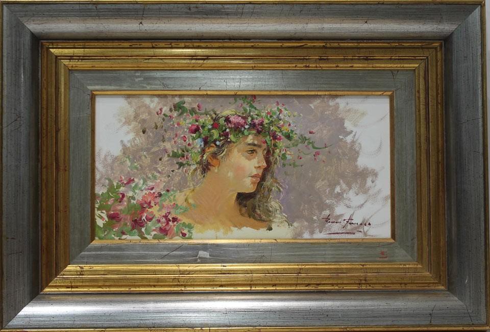 Román Francés: Corona de flores