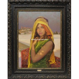 Moroccan woman with yellow shawl