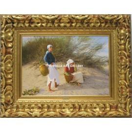 Fisherwoman in dunes