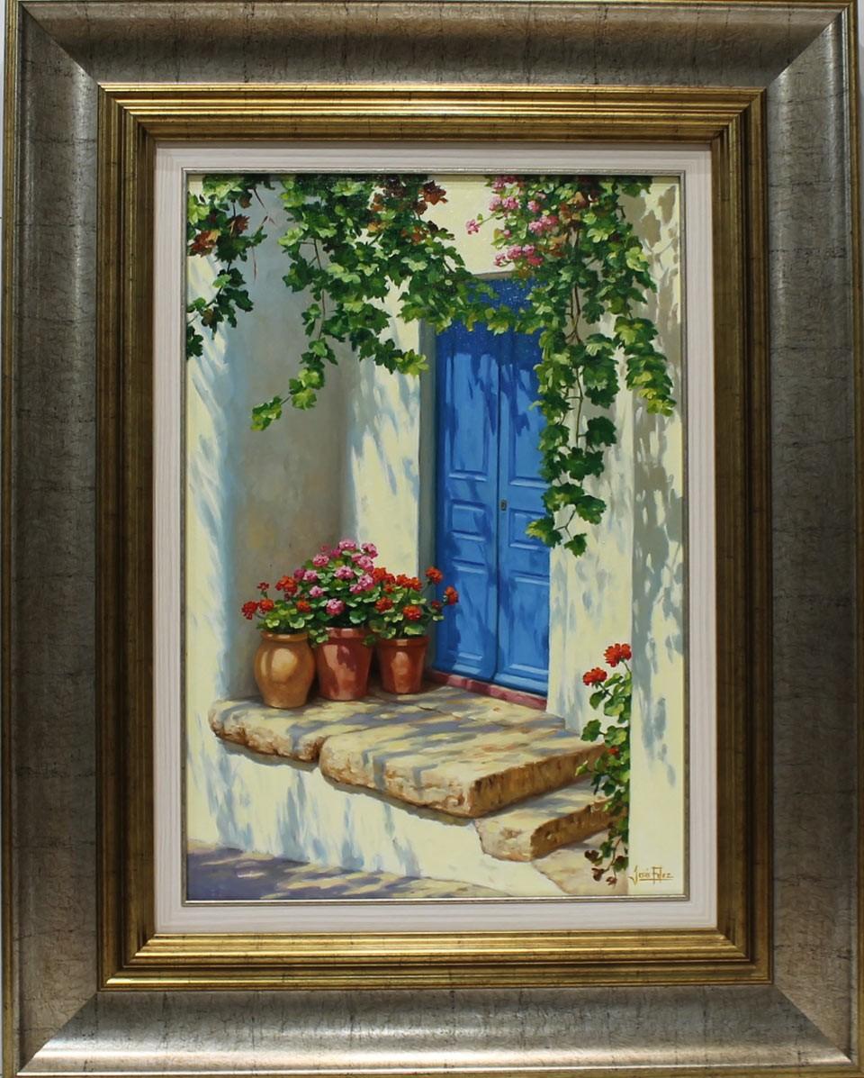 Jesús Fernández: Puerta azul con parra