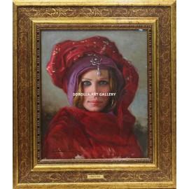 Head of oriental woman