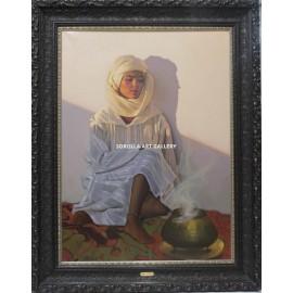 Figura de mujer con incensario