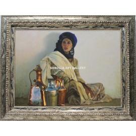 Mujer con cacharros