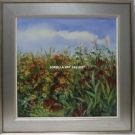 Flores y paisaje