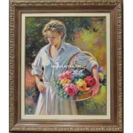 Antonio Navarro: Basket of roses
