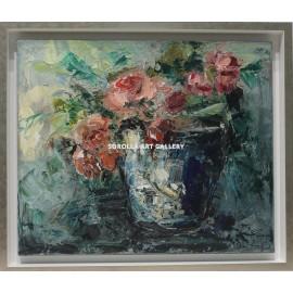 Ana Delgado: Blue flowerpot