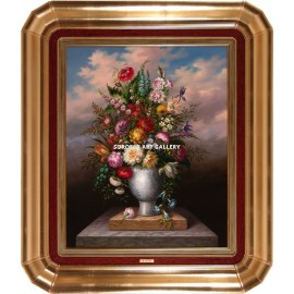 A. Huerta: Vase of flowers