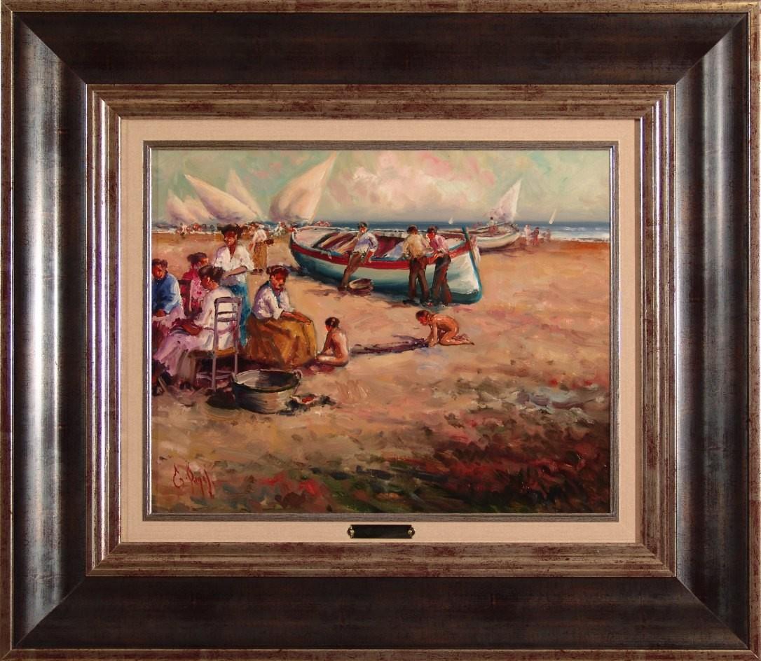Emilio Payes: Figuras en la playa