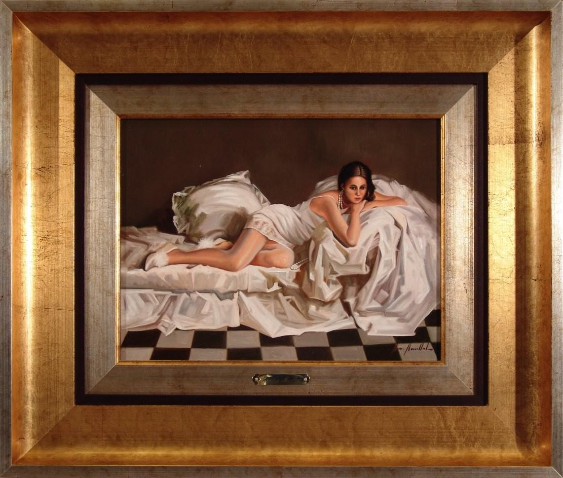 Marisa Mallol: Mujer en el sofá