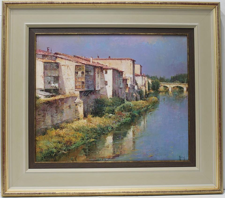 Helios Gisbert: El río al paso por su pueblo