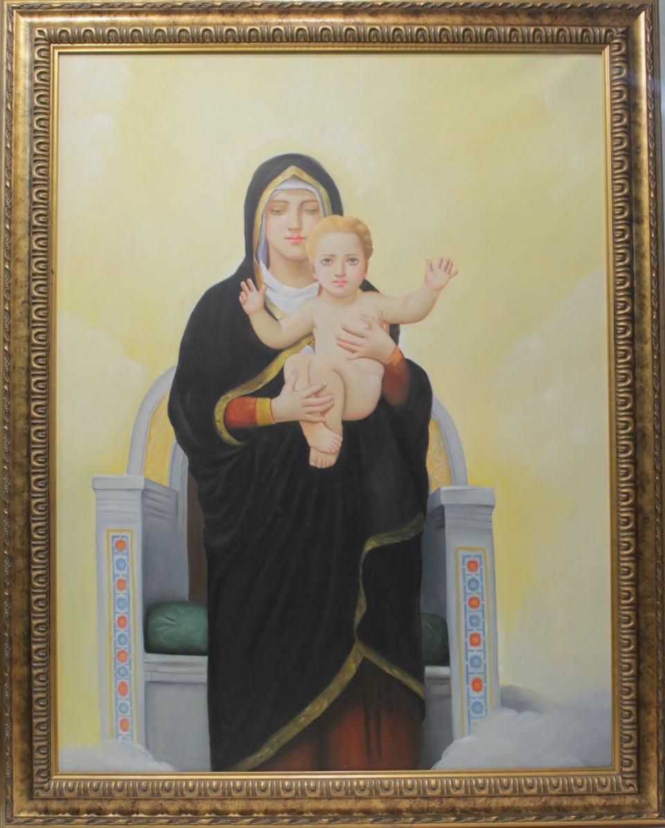 Escuela Holandesa: Virgen con niño