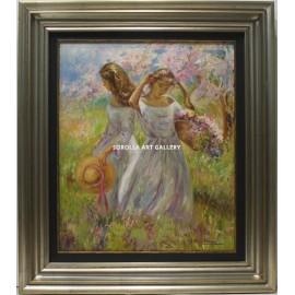 Mujeres recogiendo flores