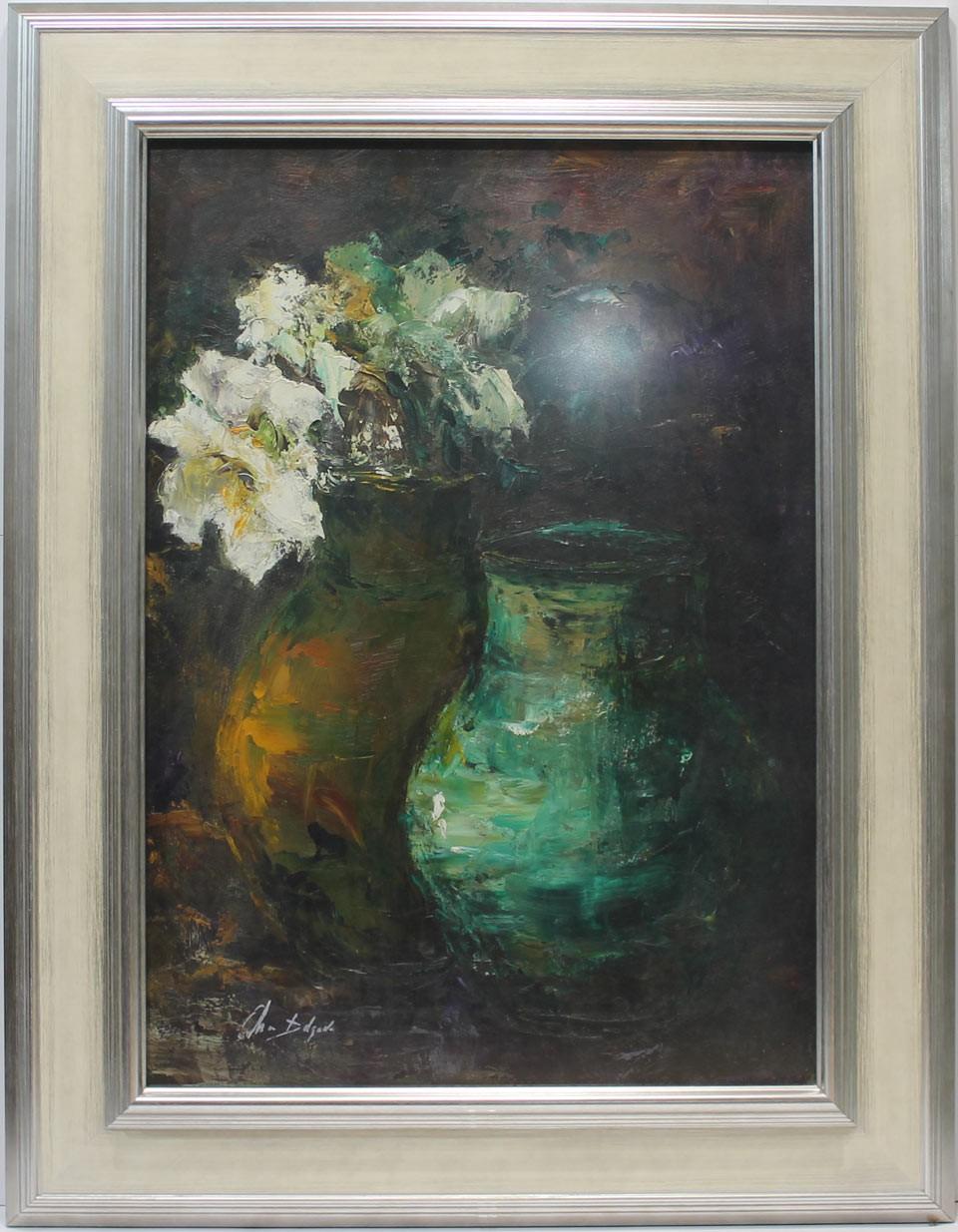 Ana Delgado: Cerámica y flores blancas