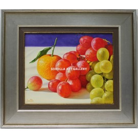 Grapes and orange