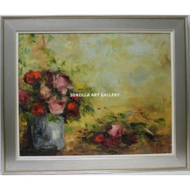 Ana Delgado: Vase with roses