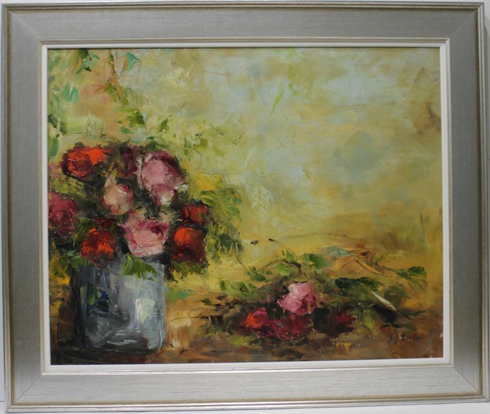 Ana Delgado: Jarrón con rosas