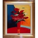 A. Gisbert: Amapolas del jarrón rojo