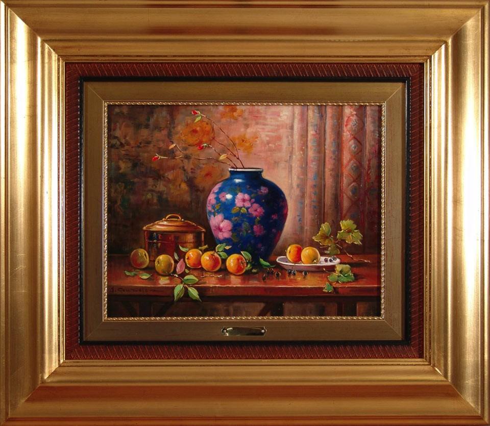 J. González: Jarrón y naranjas