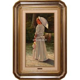 La dama del sombrero blanco