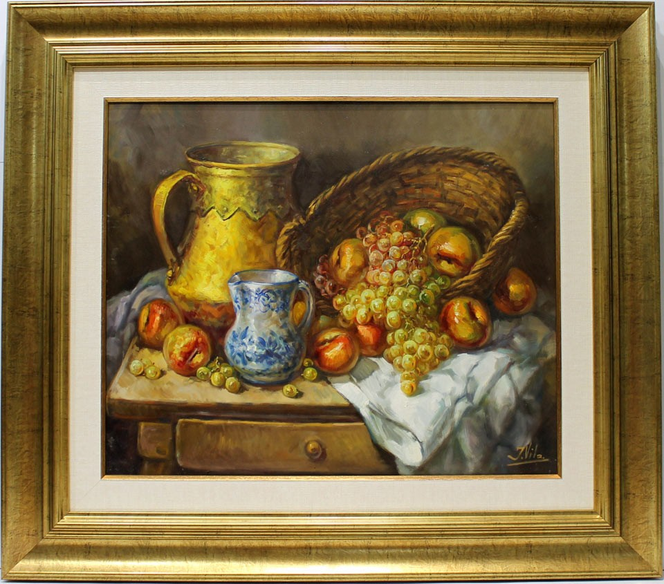 J. Vila: Bodegón de la vasija amarilla