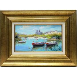 Barcas por el Sena