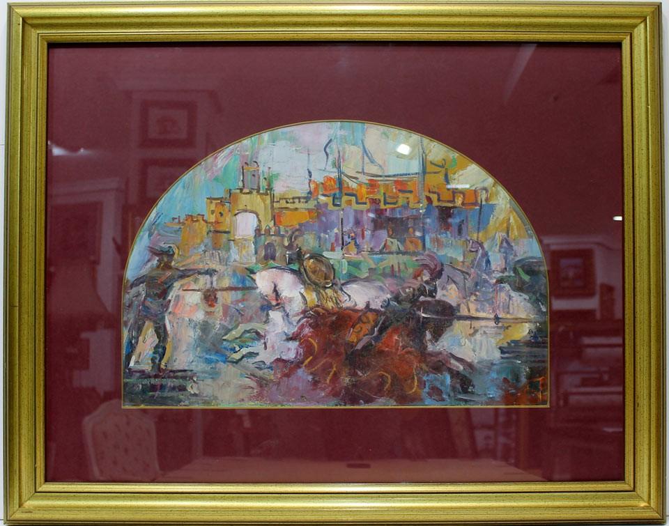 José Palomar: Escena Medieval
