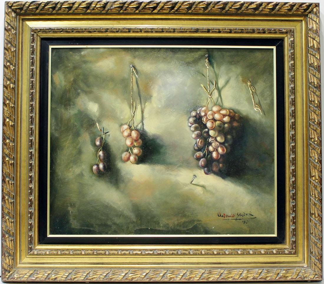 Antonio Segovia: Bodegon Uvas