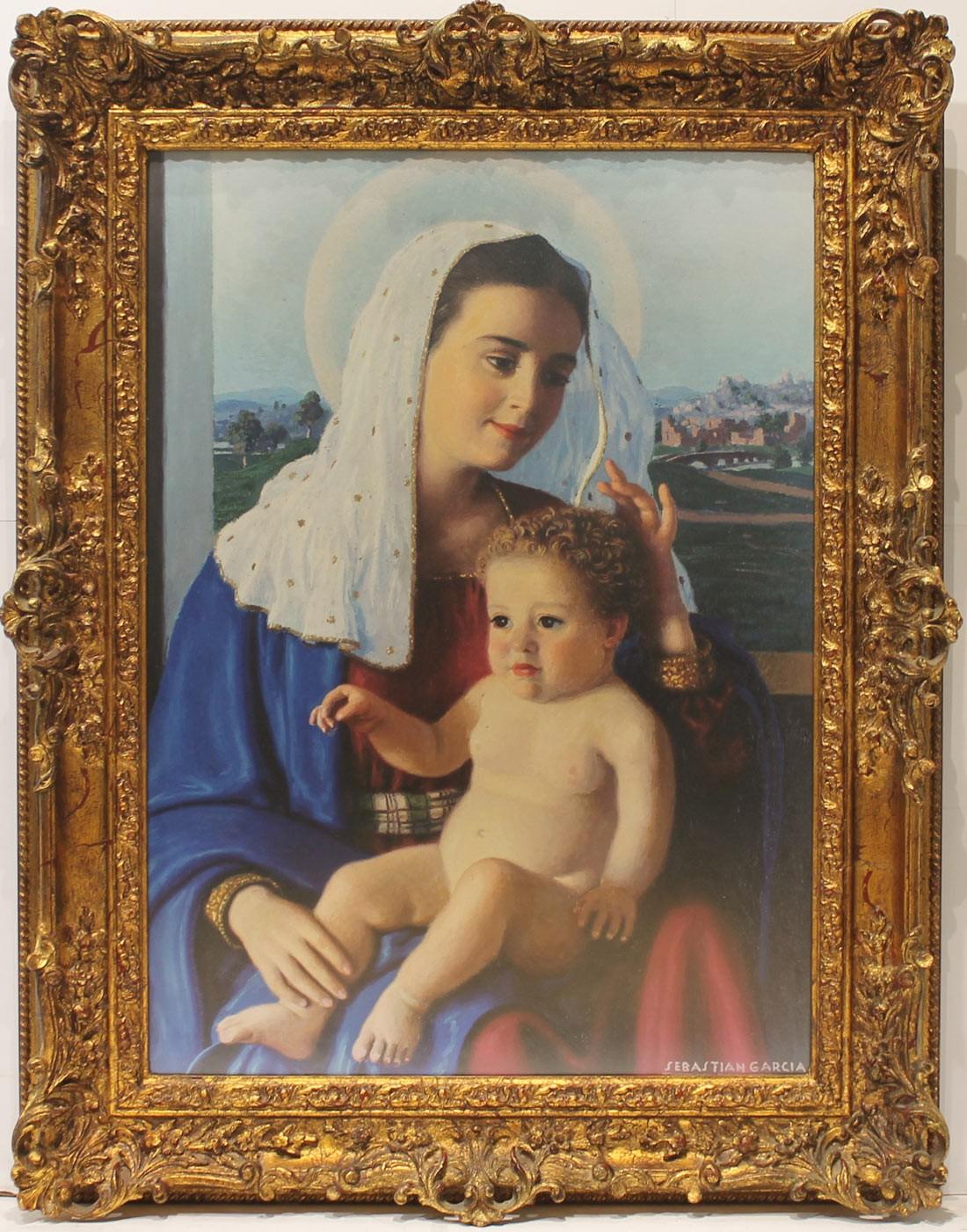 Sebastián García: Virgen con niño