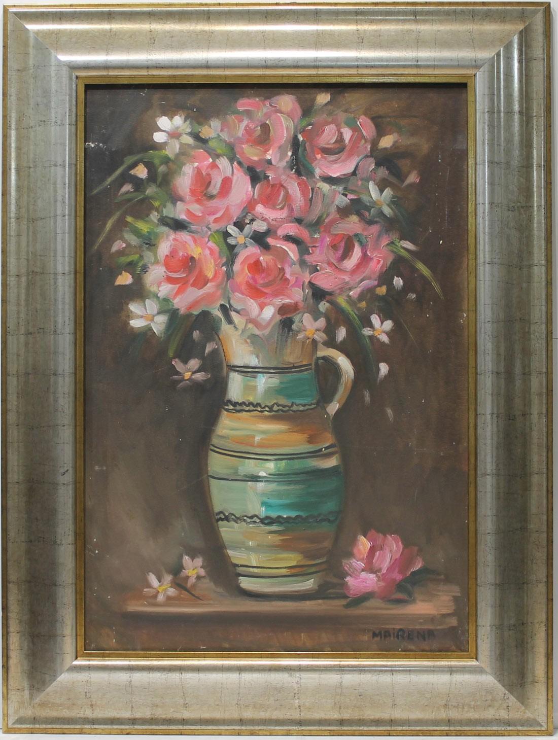 Maria Mairena: Jarrón con flores
